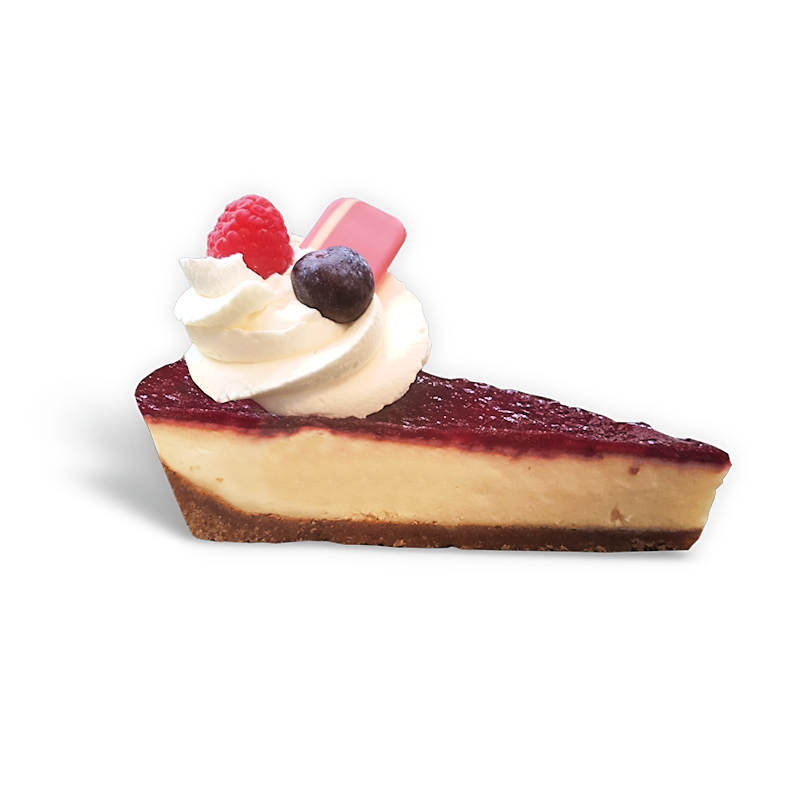 Cheescake rood fruit