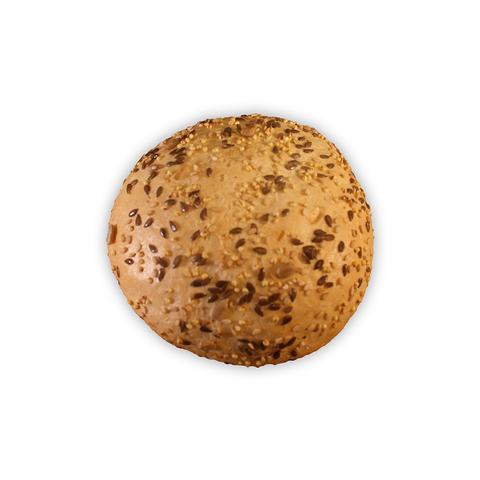 Wit broodje met zaden